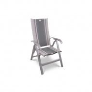 Krzesło składane Acatop Acamp 115x47cm platyna/sydney