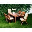 Krzesło składane z podłokietnikami  z poduszką Catalina 5705820258925