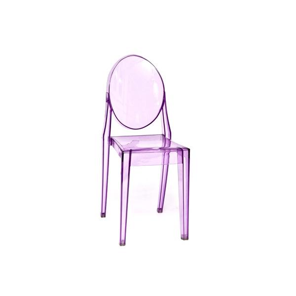 Krzesło Viki purple transp. DK-5444