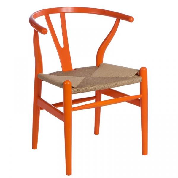 Krzesło Wicker Color pomarańczowe 5902385700658