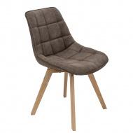 Krzesło Woody tapicerowane brązowe 1024
