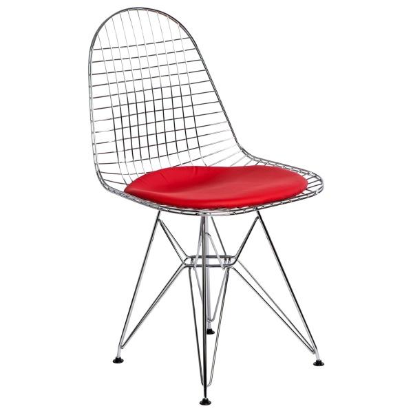 Krzesło z poduszką D2 Net czerwone DK-63357