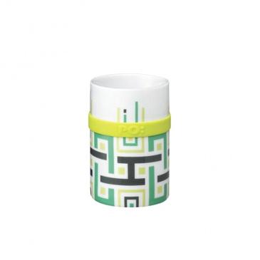 Kubek 200 ml PO: Green Geometric