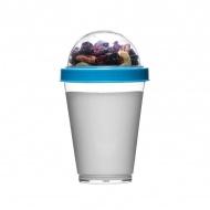 Kubek do jogurtu z pojemnikiem na musli 0,3 l Sagaform Fresh niebieski
