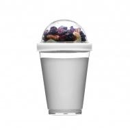 Kubek do jogurtu z pojemnikiem na musli 0,3 l Sagaform Fresh biały