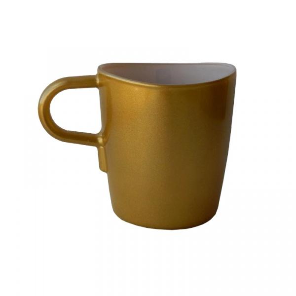 Kubek do kawy 260 ml Leonardo Loop złoty 012909