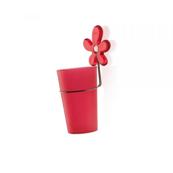 Kubek łazienkowy z uchwytem Koziol A-Pril czerwony KZ-5821536