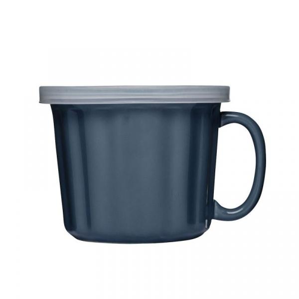 Kubek na zupę z pokrywką 0,5L Sagaform Soup niebieski SF-5017304