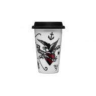 Kubek termiczny 0,25 l Sagaform Cafe Tattoo porcelana