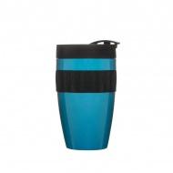 Kubek termiczny plastikowy 0,4 l Sagaform Cafe turkusowo-czarny