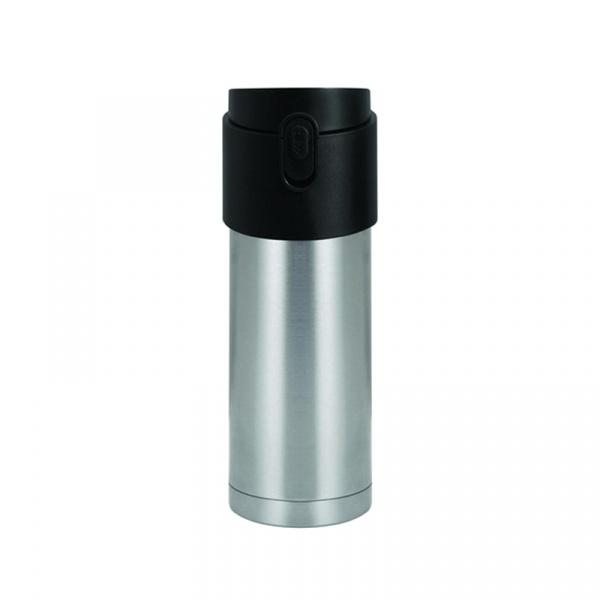 Kubek termiczny z zaparzaczem 350 ml PO: PAO stalowo-czarny 02687