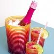 Kubek wysoki 360 ml Zak! Designs Rainbow żółto-różowy 6685-1400