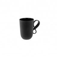 Kubek z czarnej porcelany 350ml ENDE Mobius czarny