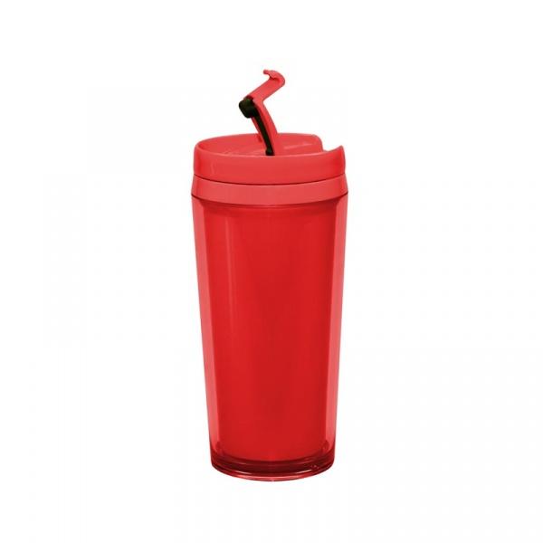 Kubek z podwójnymi ściankami 400 ml Zak! Designs czerwony 0078-8092