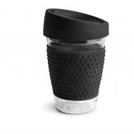 Kubek z silikonowym wieczkiem 0,3 l Sagaform Cafe czarny