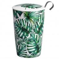 Kubek z zaparzaczką do herbaty 350ml Eigenart Dżungla zielony