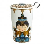 Kubek z zaparzaczką do herbaty 350ml Eigenart Shiva wielokolorowy