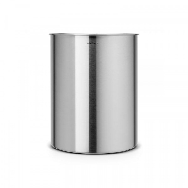 Kubełek na śmieci stal matowa 15l Brabantia srebrny BR 31-33-87