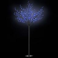 Kwitnące drzewko świąteczne, IP44, 250 cm, niebieskie LED