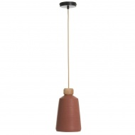 Lampa Conic Cement Terracota