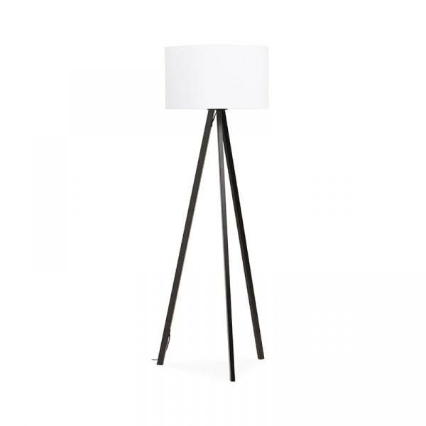 Lampa podłogowa Trivet Kokoon Design biały czarne nogi FL00370WHBL