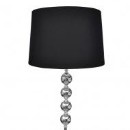 Lampa podłogowa z dekoracyjnymi kulami, wysoka, czarna