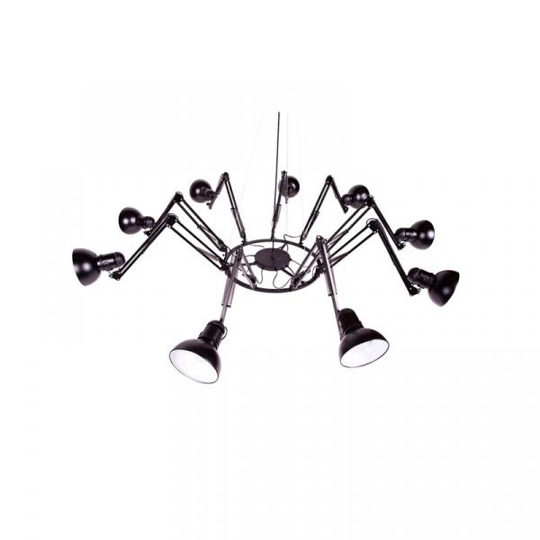 Lampa Ragno 9 King Bath Spider czarna matowa SY-JD-182-9