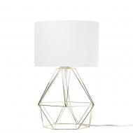 Lampa stołowa biało-złota Dippolito