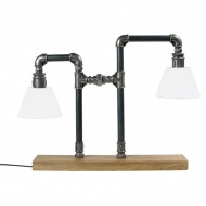 Lampa stołowa Gie El stalowa
