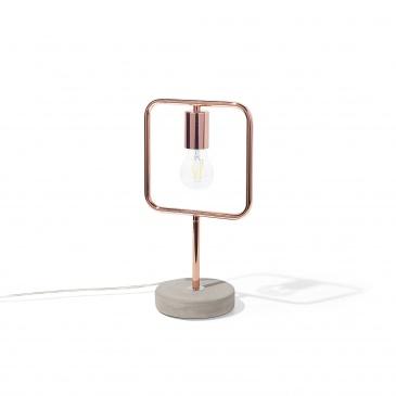 Lampa stołowa miedziana MUNDO