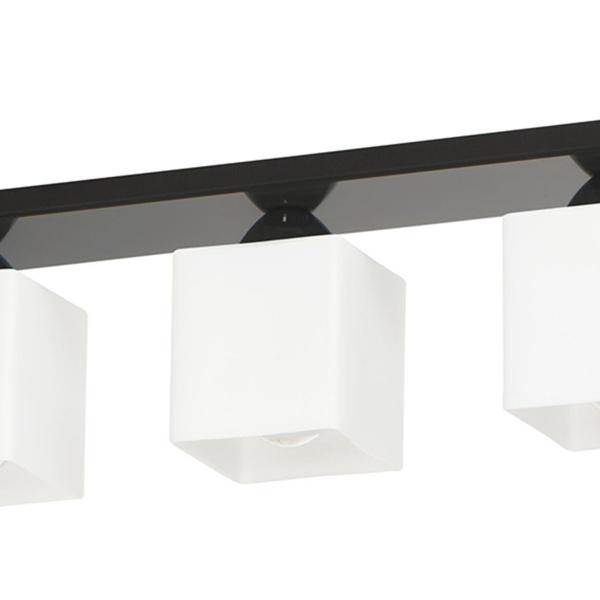 Lampa sufitowa 16x50cm Lampex Floki 3 czarna 559/3 CZA
