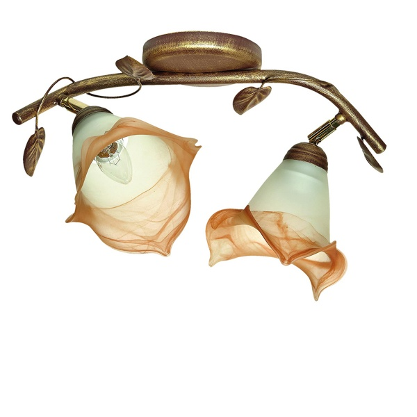 Lampa sufitowa 26x42cm Lampex Ringo 2 beżowa 472/2