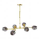 Lampa wisząca 130cm Step into design Modern Orchid-6 złoto-szara