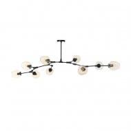 Lampa wisząca 150cm Step into design Modern Orchid-9 bursztynowo-czarna