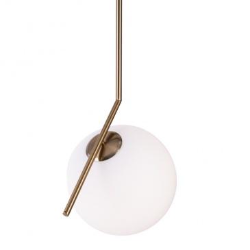 Lampa wisząca 30cm Step into design Solaris biało-złota