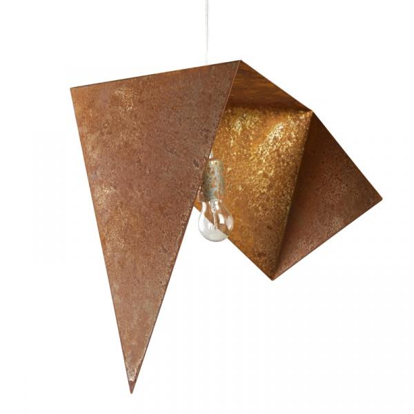 Lampa wisząca 45 cm Gie El rdzawa LGH0550