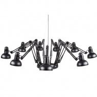 Lampa wisząca 65-215 cm Step into design Spider czarna