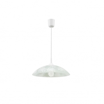 Lampa wisząca 70x35cm Lampex Z1 Winter biała 378/Z1