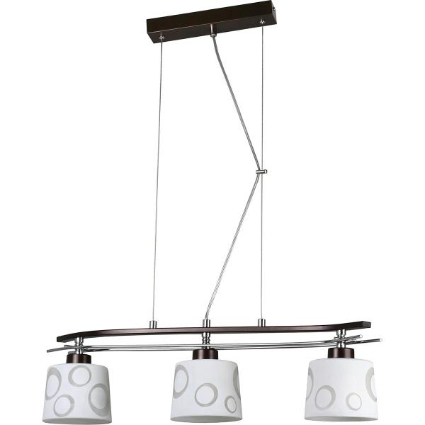 Lampa wisząca 80x67cm Lampex Alicante 3 biała 128/3 WEN