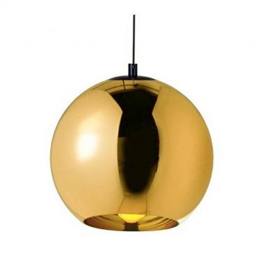 Lampa wisząca BOLLA UP GOLD 45 złota - szkło metalizowane