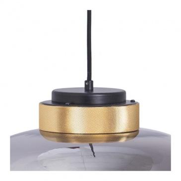 Lampa wisząca BOOM LED szaro złota 35 cm