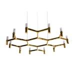 Lampa wisząca CANDLES-12B złota 106 cm