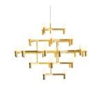 Lampa wisząca CANDLES-30 złota 120 cm