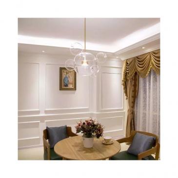 Lampa wisząca 68x56cm King Home Capri 6 Up przezroczysta