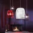 Lampa wisząca czerwona Josephine M KZ-1930536