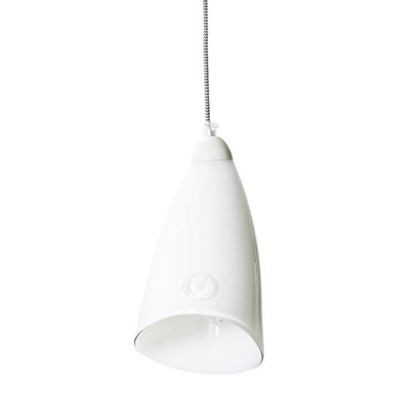 Lampa wisząca Gie El pastelowa biel LGH0260