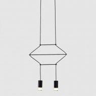 Lampa wisząca Linea 2 czarna