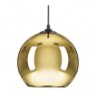 Lampa wisząca MIRROR GLOW -M złota 30 cm