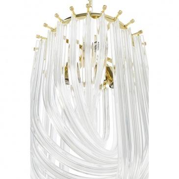 Lampa wisząca MURANO L złota - szkło, metal