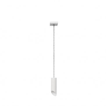 Lampa wisząca Skos 1 Lampex biała 587/1 BIA